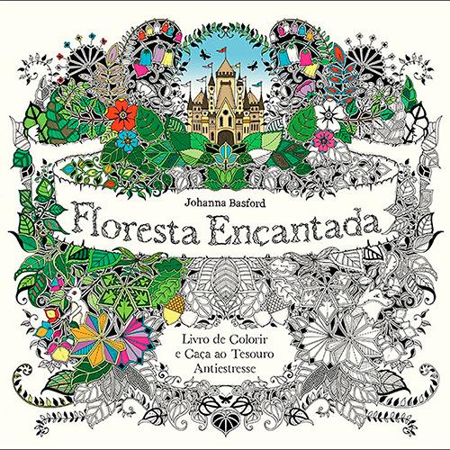 Bolsa Para Livro Recarregar O Livro Jardim Secreto : Floresta encantada mais desenhos para colorir vai lendo