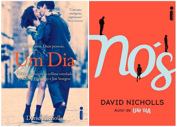 Capas de 'Um Dia' e 'Nós', de David Nichols/Divulgação Intrínseca